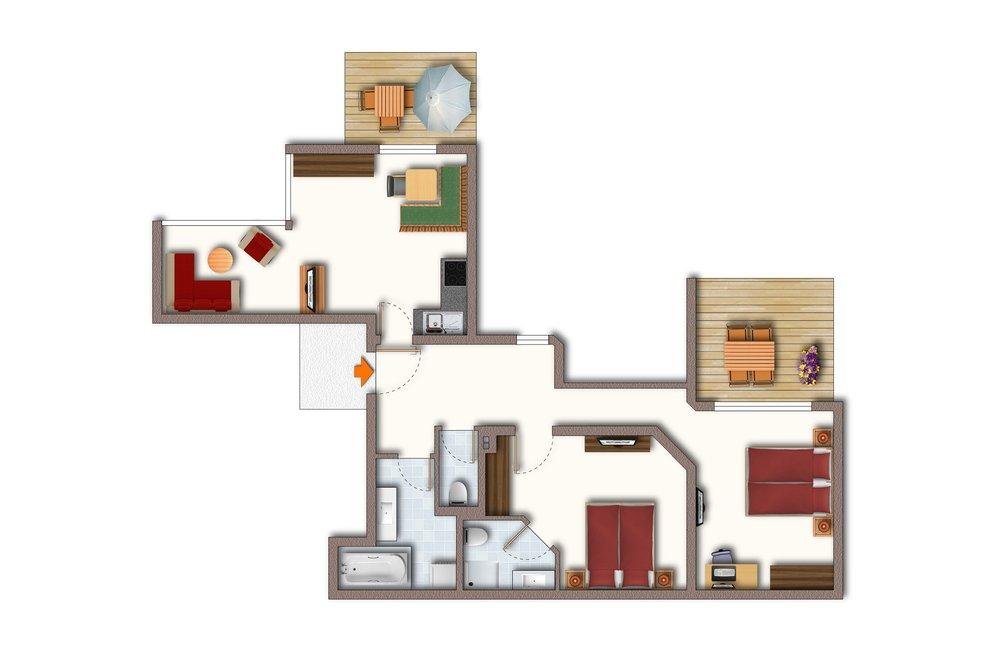 Grundriss Apartment Schwalbennest
