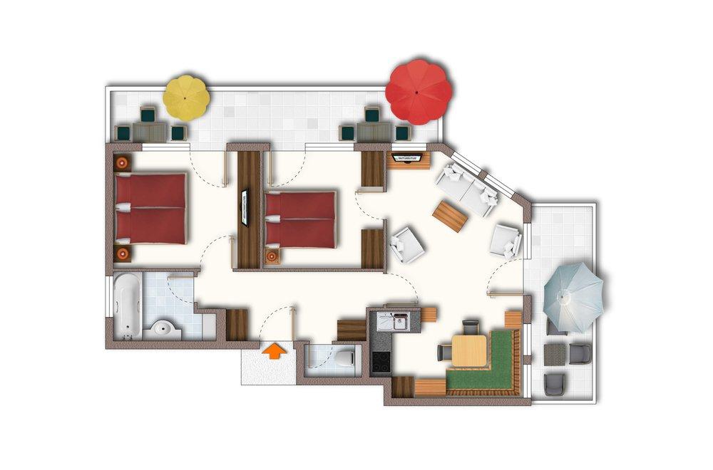 Grundriss Apartment Alpenrose