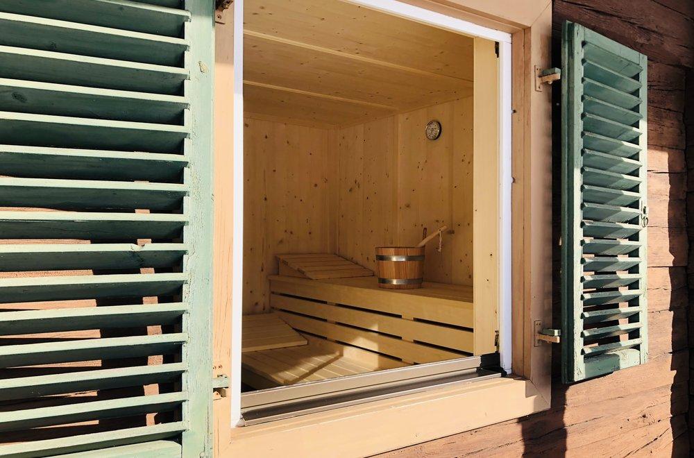 Finnische Sauna Chalet Dorfbäck