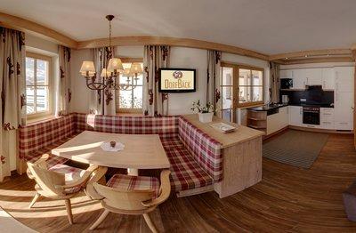 Küche und Essbereich im Apartment Panorama