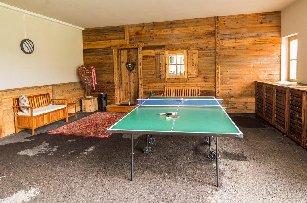 Tischtennisplatte im Aussenbereich Apartment Gänseblümchen
