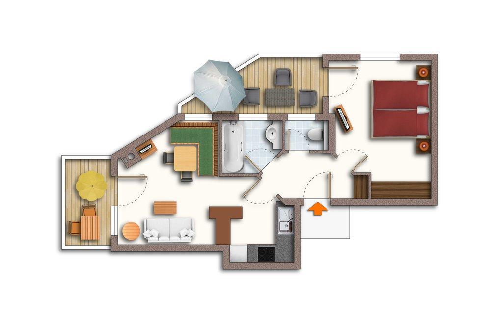 Grundriss Apartment Lavendel
