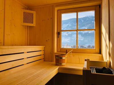 Finnische Sauna im Chalet Dorfbäck