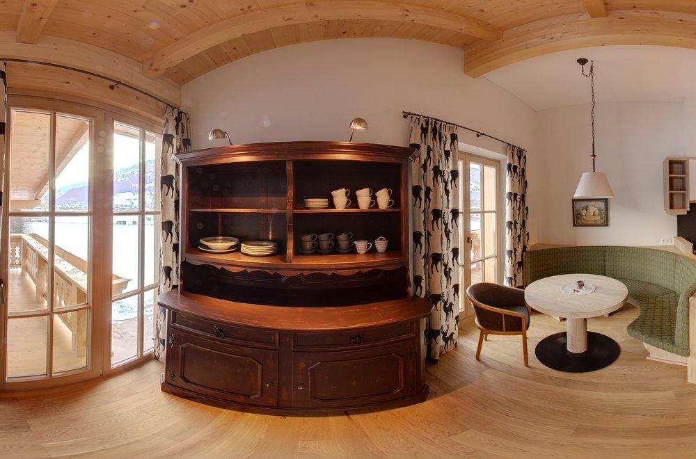 Wohn- und Essbereich mit Küche Apartment Schwalbennest