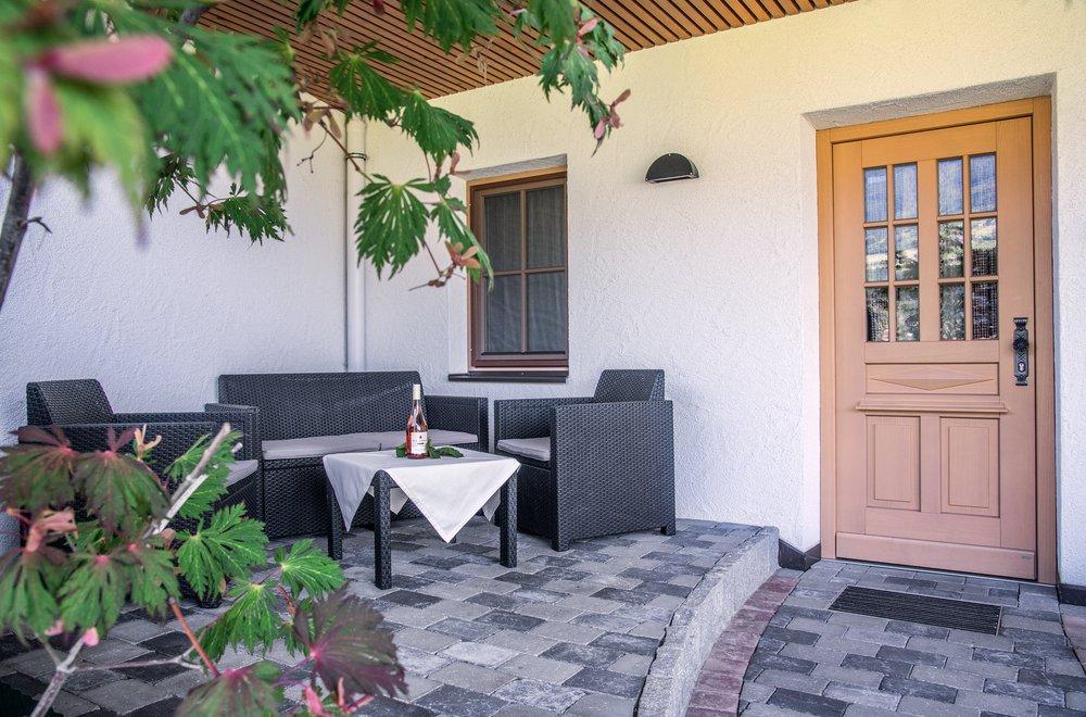 Lounge im Aussenbereich Apartment Gänseblümchen