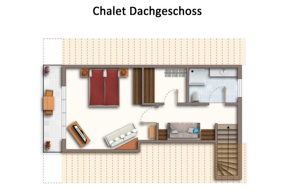 Grundriss Chalet Dorfbäck Dachgeschoss
