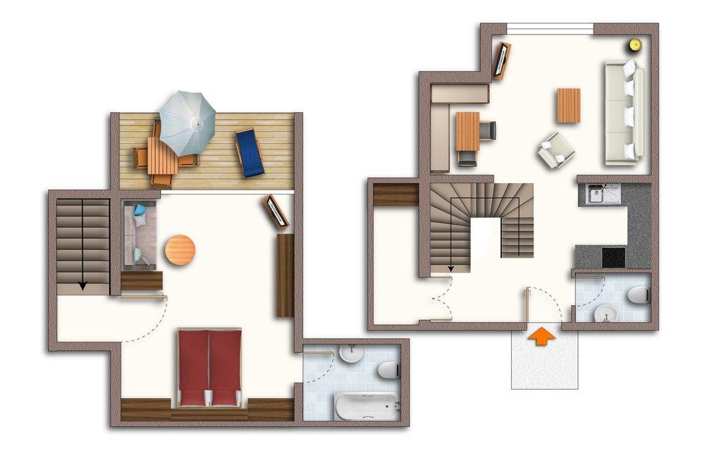 Grundriss Apartment Gerlosstein