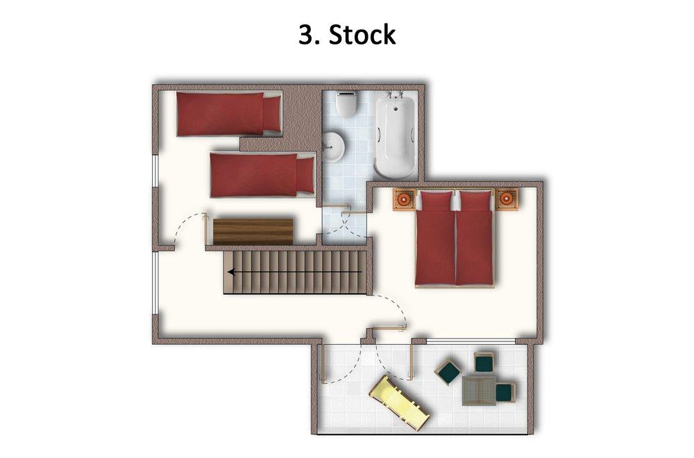 Grundriss Apartment Hochzillertal 3. Stock