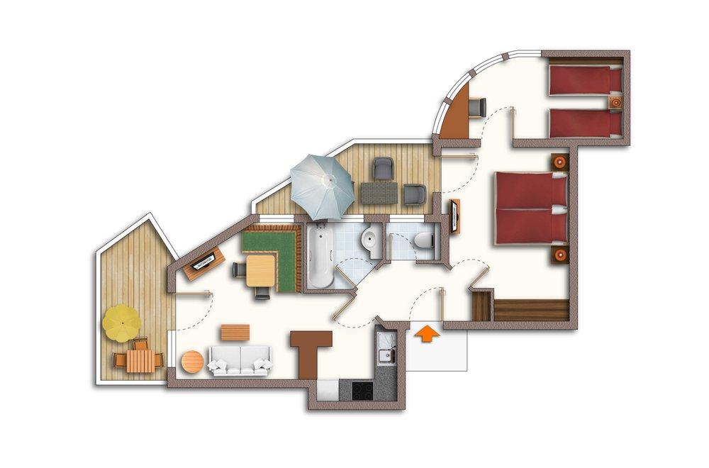 Grundriss Apartment Edelweiss